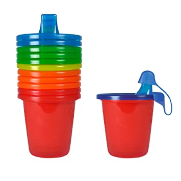 The First Years Take /& Toss Spill-Proof Straw Cups 4 Pack 10Oz