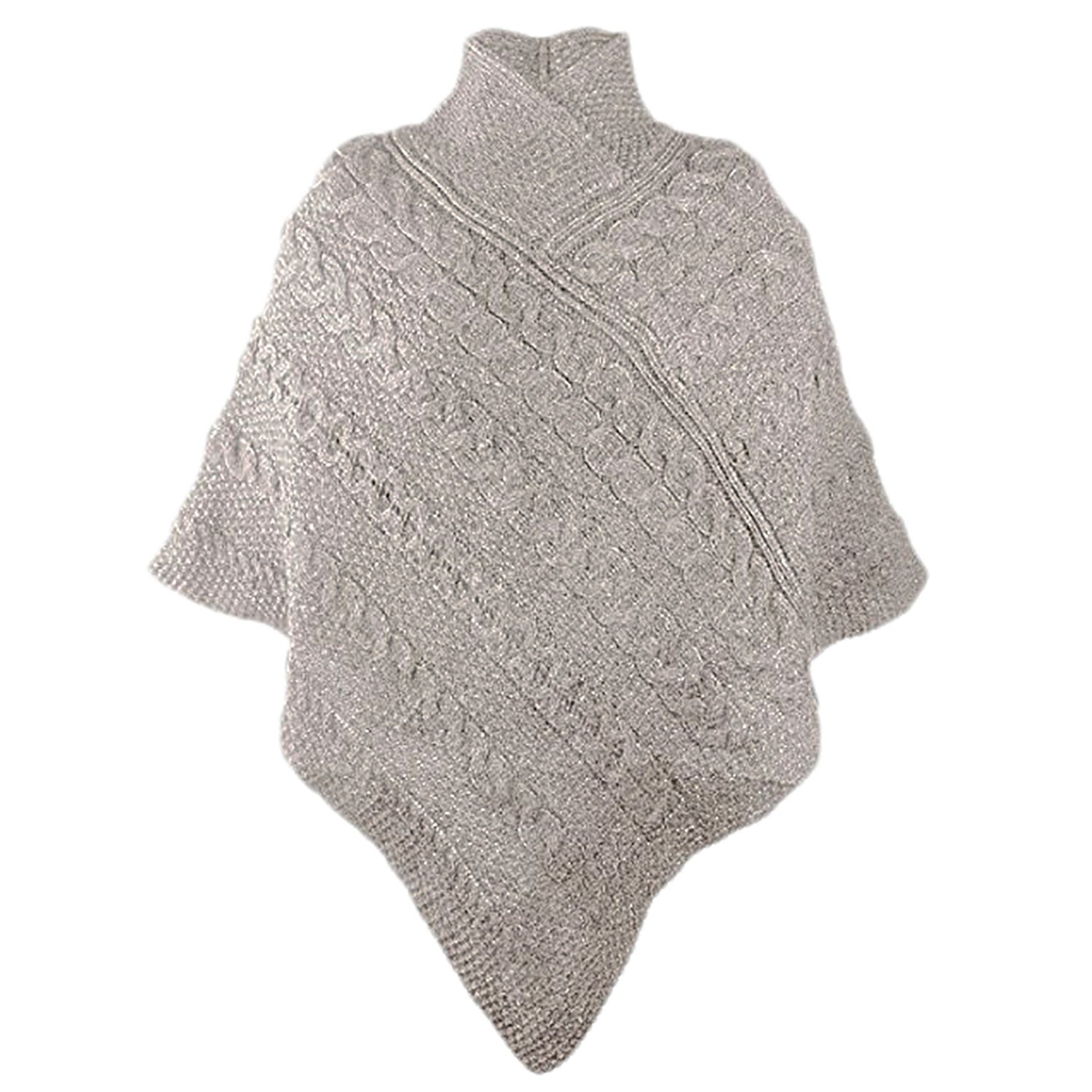 Irish Merino Ladies Aran Knit Poncho West End Knitwear