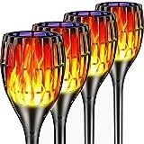 Upgraded Solar Torch Lights, Bright Waterproof Flickering Dancing Flames Torches Light Outdoor Solar Landscape Decoration Lig