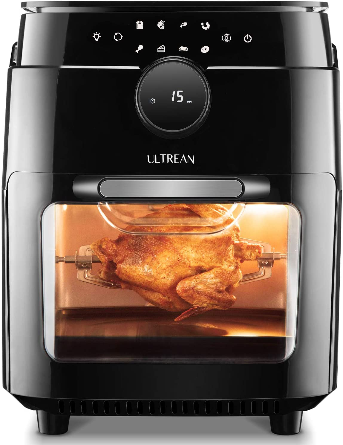 Ultrean Air Fryer, 12.5 Quart Air Fryer Oven, Toaster Oven with Rotisserie,Bake,Dehydrator,Auto Shutoff and 8 Touch Screen Preset, 8 Accessories & 50 Recipes
