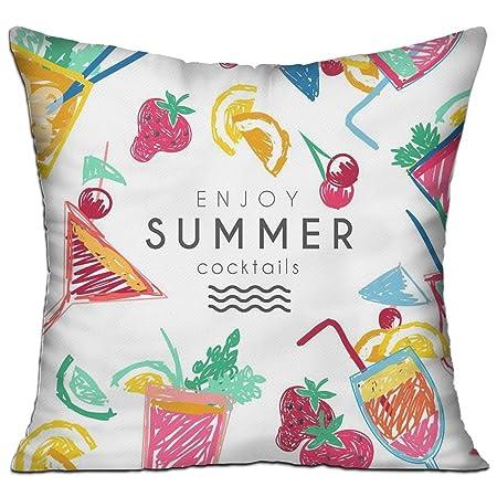 MI-too Enjoy Summer Cookktails - Funda de cojín de Lino y ...