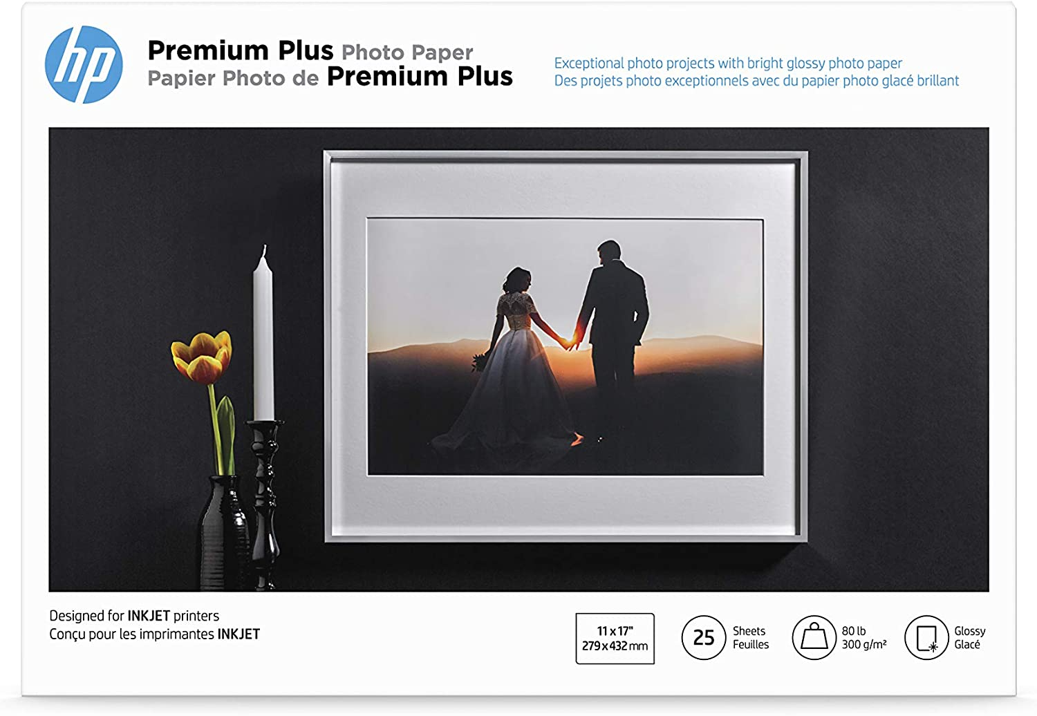 HP Premium Plus Photo Paper| Glossy | 11x17 | 25 Sheets