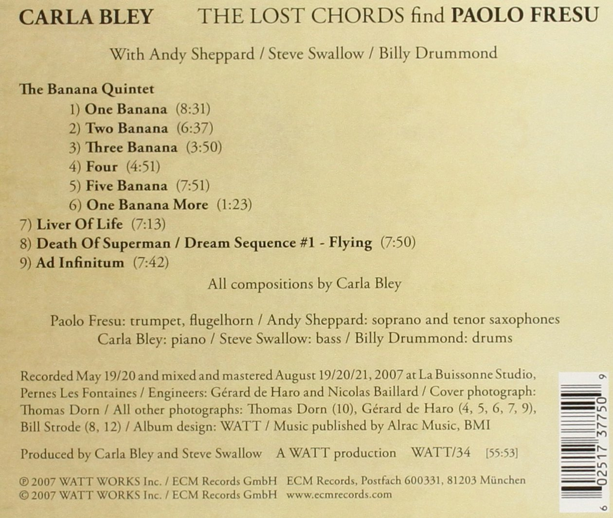 Carla Bley The Lost Chords Find Paolo Fresu Amazon Music