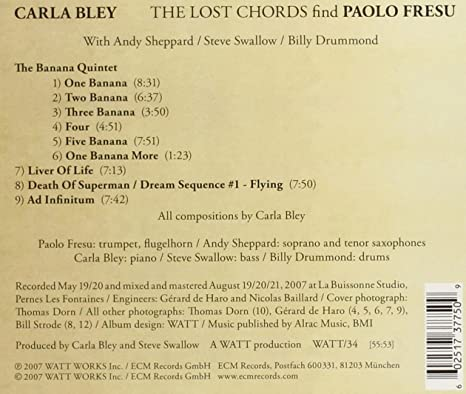 Carla Bley - The Lost Chords Find Paolo Fresu - Amazon.com Music