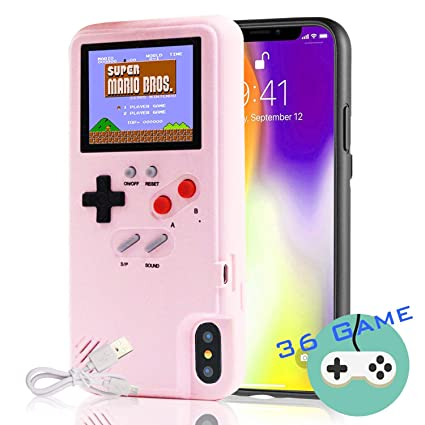 Gameboy Case For Iphone Autbye Retro 3d Phone Case Game Console With 36 Classic Game Color Display Shockproof Video Game Phone Case For Iphone Xs
