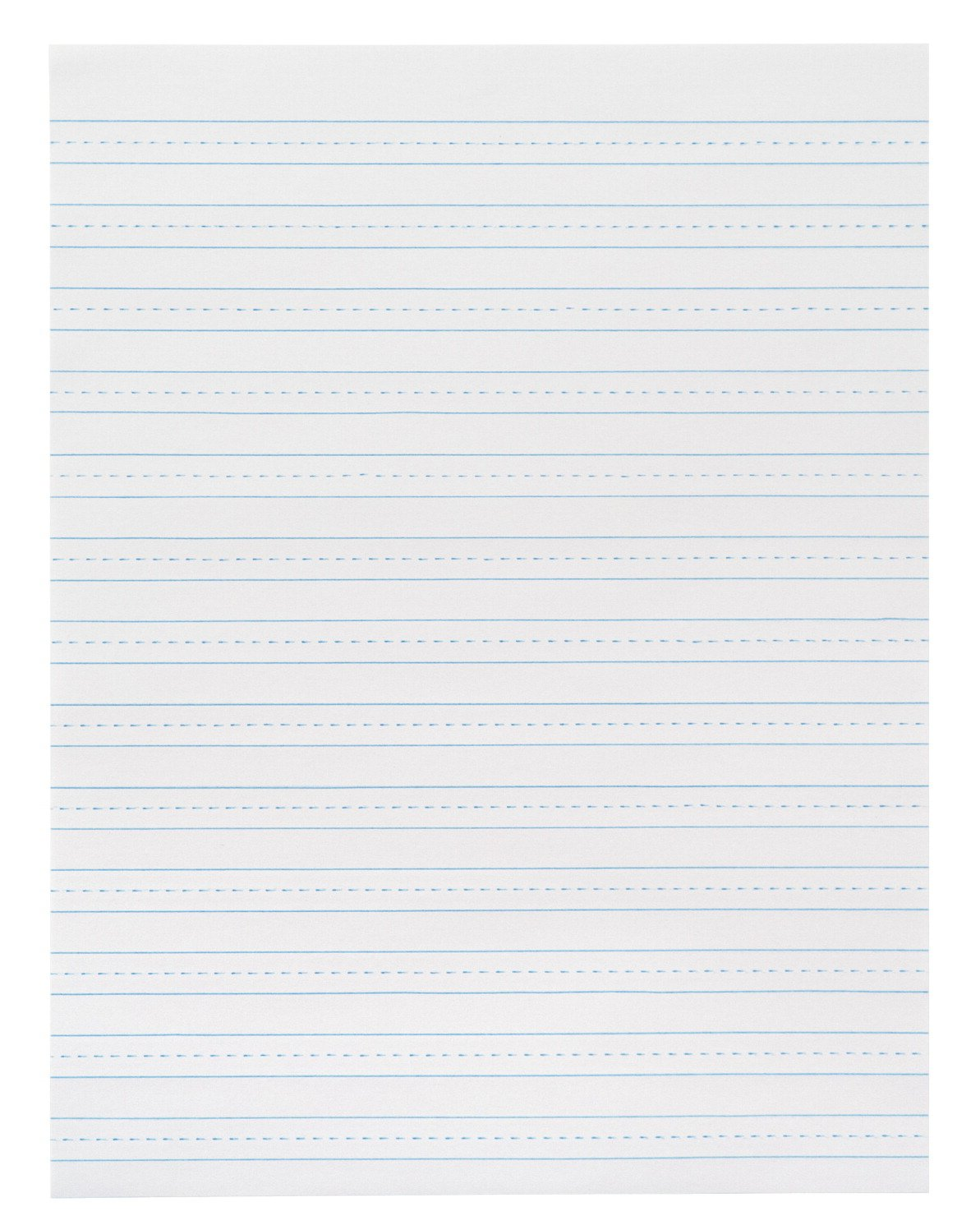 School Smart 3 Hole Skip A Line Filler Paper with Margin - 8 x 10 1/2 inches - Pack of 200 Sheets - White