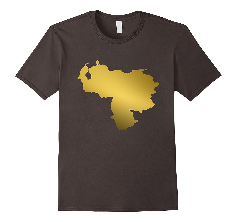 Venezuela Map Gold T-Shirt No More Dictator Love My Country-Vaci