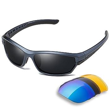 24e017bb7c91d Duco Lunettes de Soleil polarisées Homme Sport pour Ski Conduite Golf  Course Cyclisme Monture Ultra légère