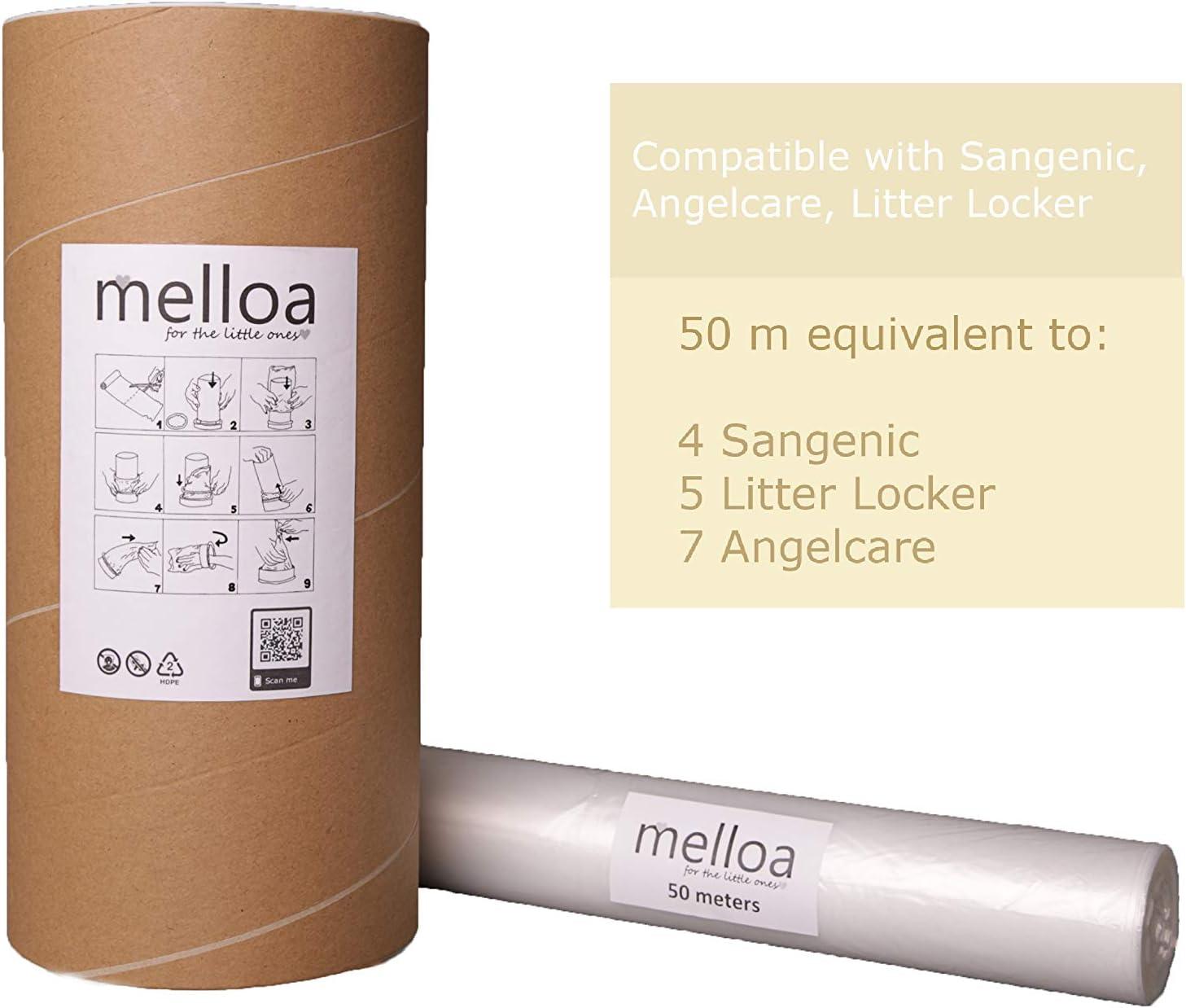 Liti/ère Litter Locker II ECO Recharge de poubelle /à couches compatible Sangenic TEC Angelcare Twist /& Click Simplee