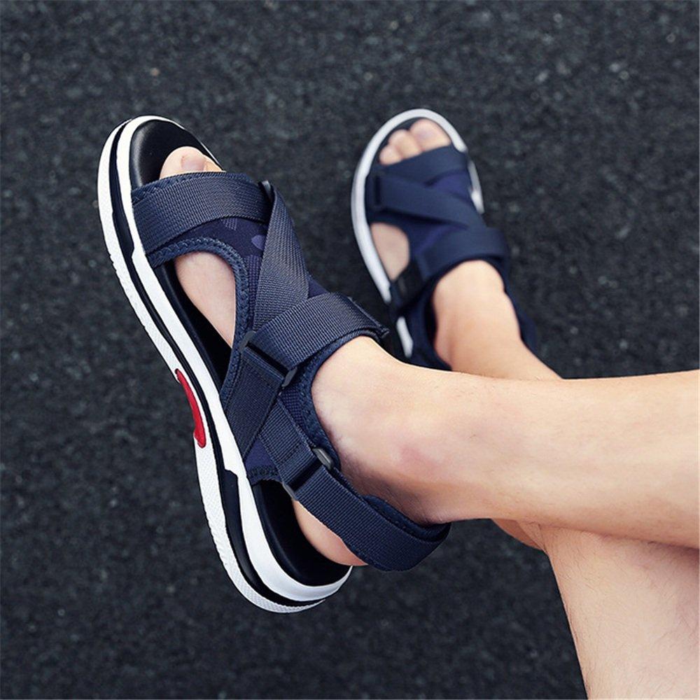 Wagsiyi Hausschuhe Sandalen Herren Sommer Casual Comfort Sandalen Atmungsaktive Blaue Blau, Schuhe Strandschuhe (Farbe : Blau, Blaue Größe : 42 2/3 EU) Blau a71403
