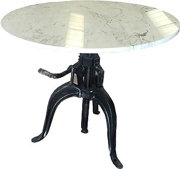 Bastille Aristea Table Table Vintage Avec Pied En Fonte Et