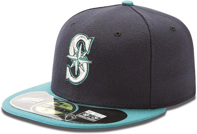 New Era 59Fifty Hat MLB Seattle Mariners Mens Big Size Black White 5950 Cap