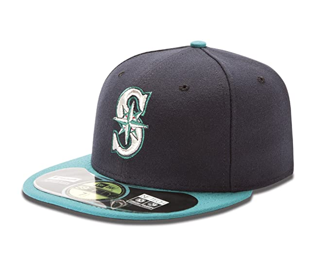 on sale e5201 fe5fd MLB Seattle Mariners Alternate AC On Field 59Fifty Fitted Cap, Navy, 7