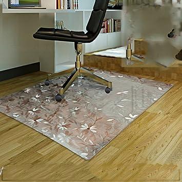 Estera transparente antideslizante alfombra de suelo de plástico protector de piso de madera oficina computadora silla mat alfombra de tierra redonda del ...