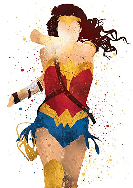 PGbureau 8x10 P36 Wonder woman poster. Wonder woman wall art. Justice League wall art  sc 1 st  Amazon.com & Amazon.com: PGbureau 8x10 P36 Wonder woman poster. Wonder woman wall ...