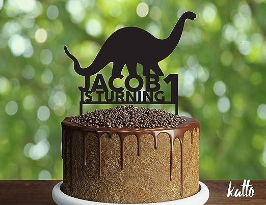Decoración para tarta de cumpleaños con diseño de dinosaurio ...