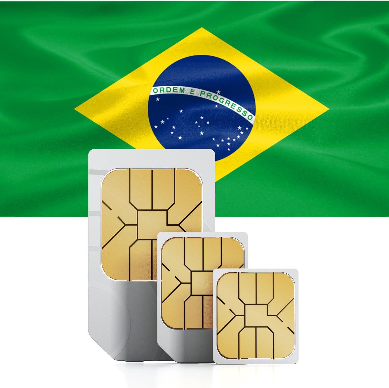 9/Go rapide Internet Mobile /& Int pour 30/jours br/ésil pr/épay/ée SIM tel