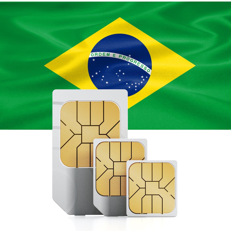 Brasil Prepaid SIM + 9 GB rápida Internet móvil móvil móvil & int. tel. para 30 días 4638e7