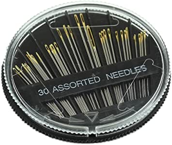 Estone 30PCS Assorted Hand Sewing Needles Embroidery Mending Craft Quilt Sew Case