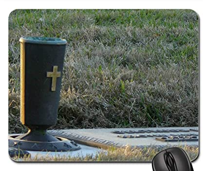 Amazon com : Mouse Pads - Cemetery Vase Tombstone Grave