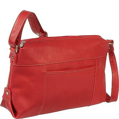 a9c297e8ce Le Donne Leather Top Zip Front Slip Shoulder Bag (Red)  Handbags ...