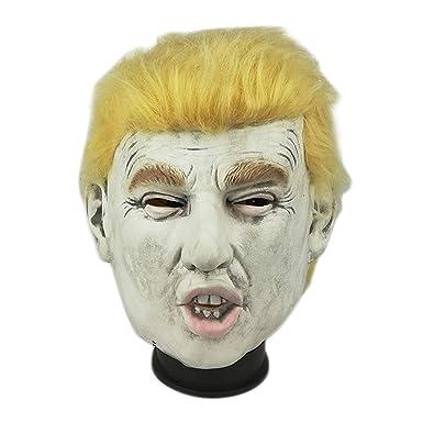 trippy lights donald trump michael myers halloween overhead latex hybrid mask