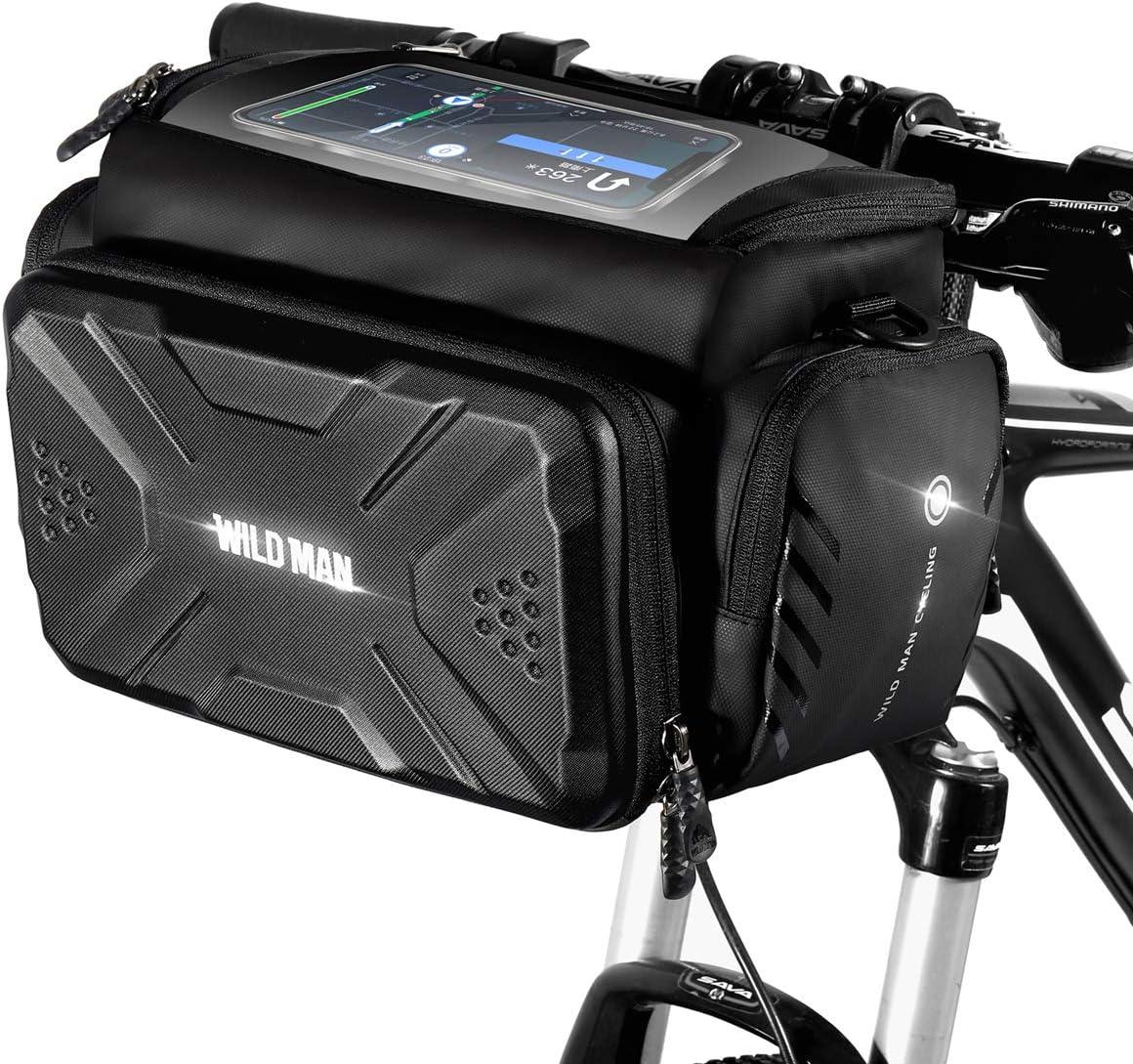 WILD MAN Bicycle Phone Bag MTB Road Bike Handlebar Touch Screen Bag Case