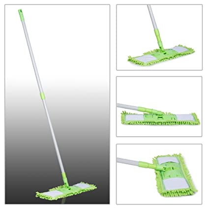 Smile Mom Magic Flat Mop 360 Degree for Home and Office Cleaning with Reusable Washable Microfiber Mop Cloth Pad
