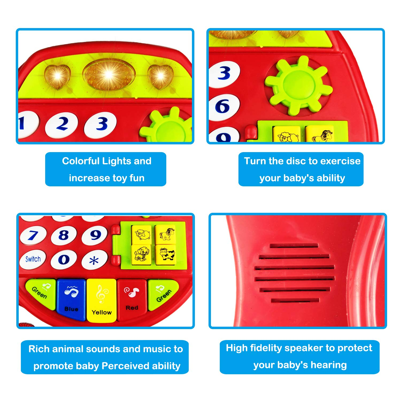 A 3 Juguetes Juegos Para Y 1 Teléfono Juguete Años Niños Yita De jq5ALR34