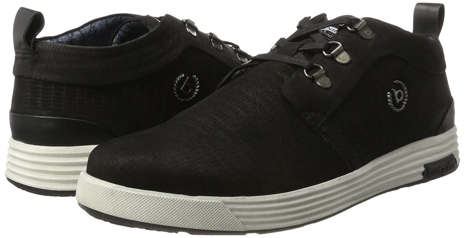 Mens 322284013000 High Sneaker, Black Bugatti