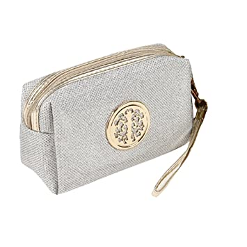 bad6b3f249 Glitter Travel Cosmetic Bag Women Fashion Multifunction Makeup Pouch  Toiletry (Silver)