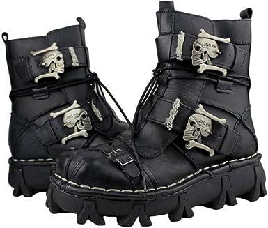BLACK Genuine Leather BOOT STRAPS *SKULLS* GOTHIC//PUNK FASHION
