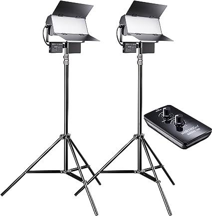 Walimex Pro Led Sirius 160 Daylight 2er Set Mit Stativ Kamera