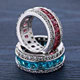 COMVIP Women Filled Cubic Zirconia Stainless
