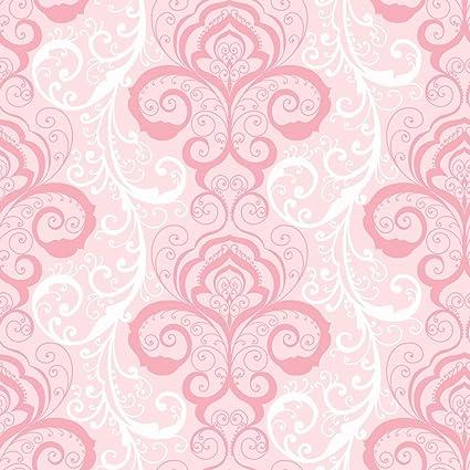 Chesapeake Chr11641 Vanessa Pink Henna Brocade Wallpaper Wallpaper