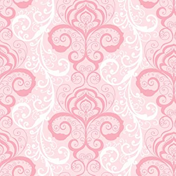 Chesapeake Chr11641 Vanessa Pink Henna Brocade Wallpaper Amazon Com