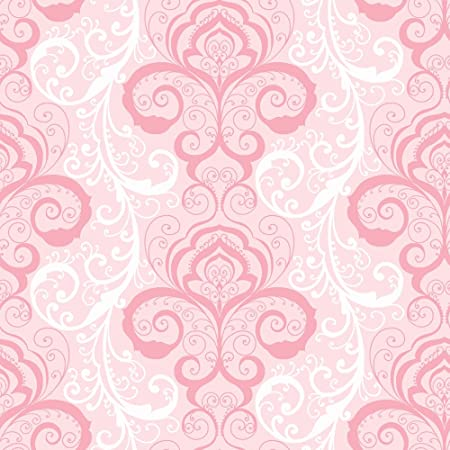 Chesapeake Chr11641 Vanessa Pink Henna Brocade Wallpaper Amazon Co