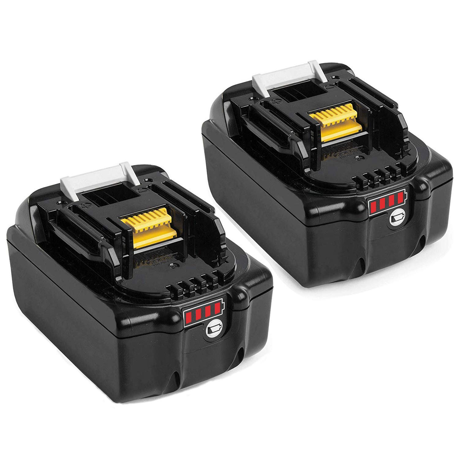 2X Reoben BL1850B 18V 5.0 Ah Lithium Replacement Battery Pack for Makita BL1850B BL1850 BL1840 BL1830 BL1815 BL1835 BL1845 LXT-400 Cordless Power Tools with Indicator