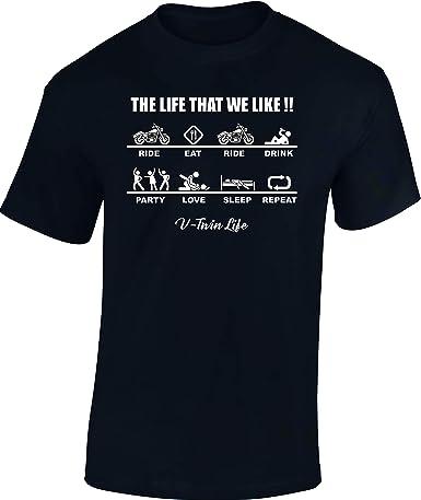 Baddery Camiseta: Chopper Life - Regalo Motero-s - T-Shirt Biker Hombre-s y Mujer-es - Motocicleta - Bike - Moto - Motociclismo - Club - Mecánico Maquinista - USA - Motocross Vintage: Amazon.es: Ropa y accesorios