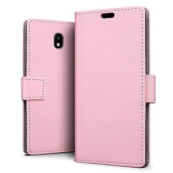 SLEO Funda para Samsung Galaxy J3 2017 [Versión Europea] Cartera Carcasa Piel PU Suave Flip Folio Caja Super Delgado [Estilo Libro,Soporte Plegable y ...
