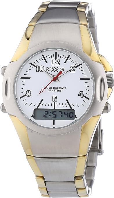Rexxor 242-8900-18 - Reloj de Cuarzo para Hombres, Bicolor