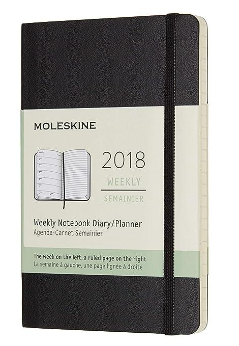 Moleskine 2018 12 Month Weekly Planner Pocket (3.5 x 5.5