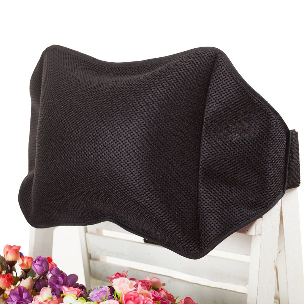 Halovie Air Inflatable Cushions Back Support for Car Home Office Chair Portable Pillow with Pump Black Removable Mesh Pillow Case 30cm*36cm