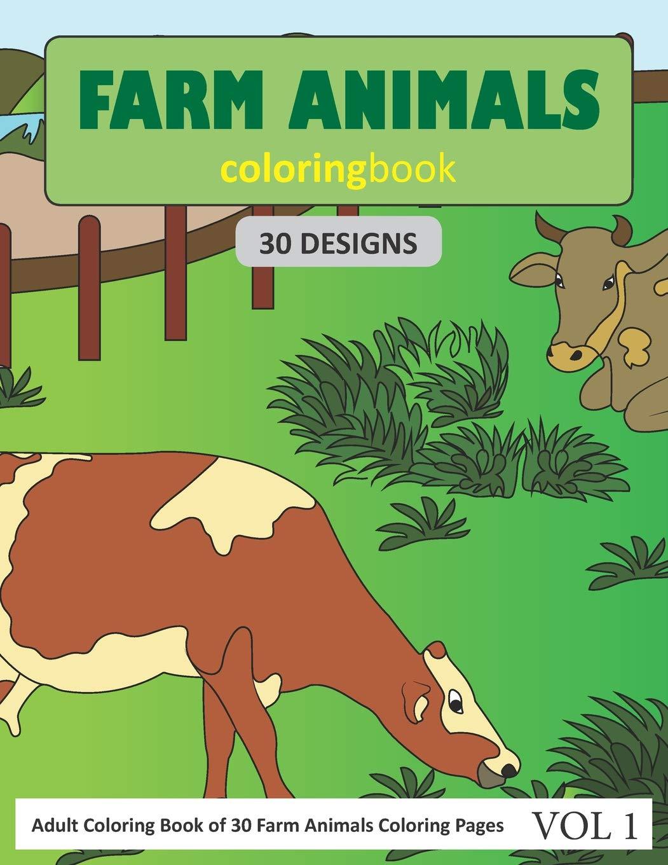 Farm Animals Coloring Book: A Cute Farm Animal Coloring Book for Kids (Coloring  Books for Kids): Press, Dylanna: 9781947243491: Amazon.com: Books | 1360x1051