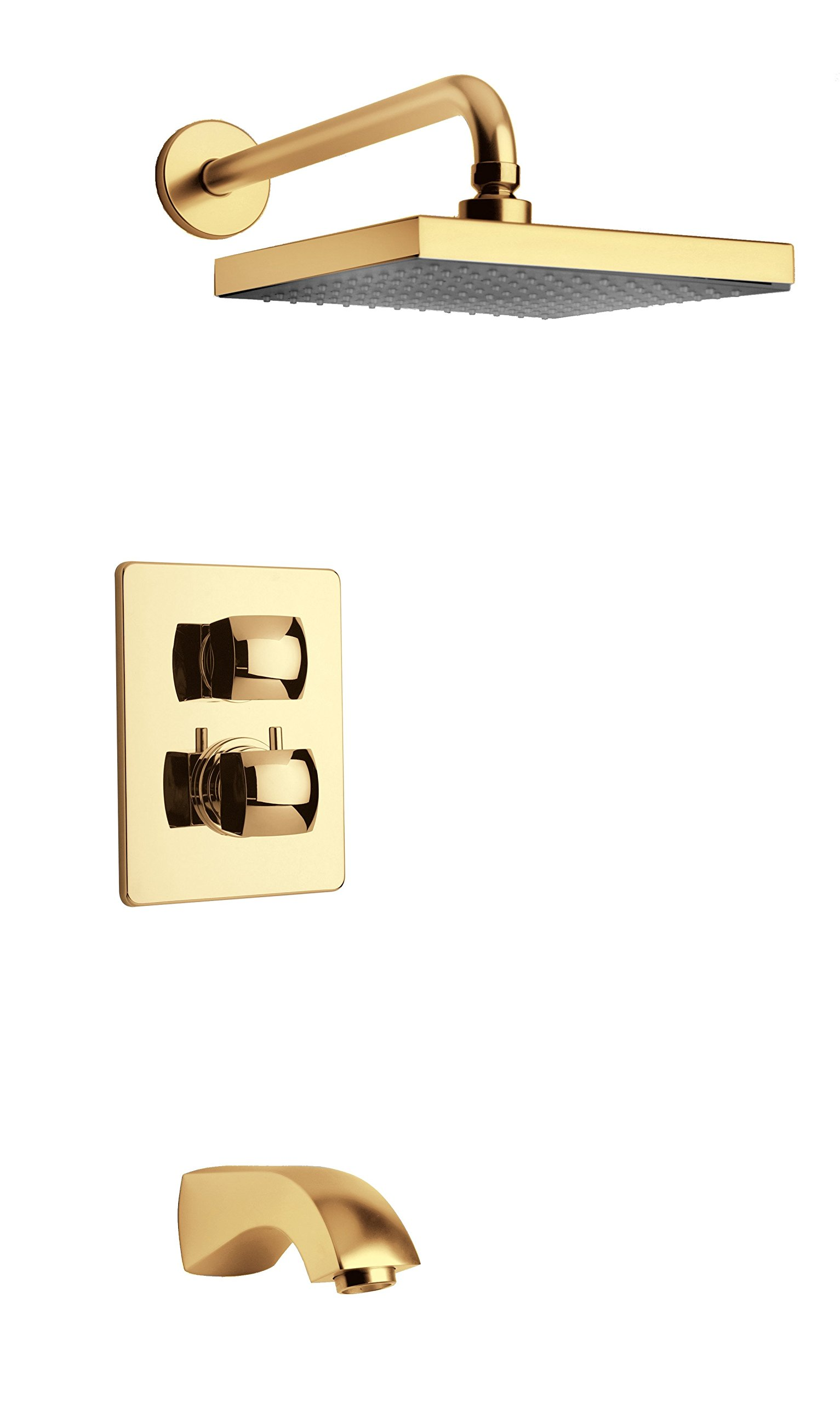 LaToscana 89OK691 Lady Thermostatic Valve with 2 Way Diverter Volume Control, Matt Gold by La Toscana