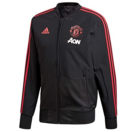 4504d5fe89a Amazon.com   adidas 2018-2019 Man Utd Presentation Jacket (Black ...