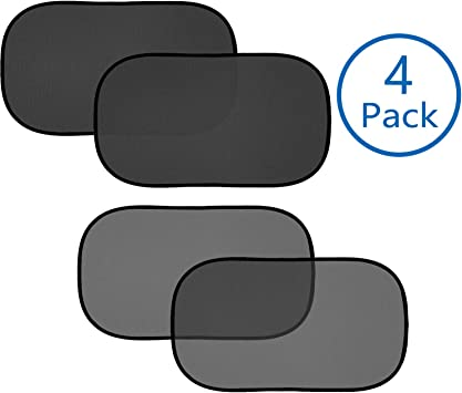 Blocks over 99/% of harmful UV Rays Protect Your Kids and Pets in the Back Seat from Sun Glare and Heat with 8 Suction Cups Zacro Car Sunshade Protector for Side and Rear Window Easy to Install