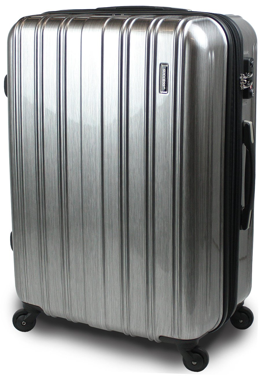 【SUCCESS サクセス】 スーツケース 3サイズ( 大型  ジャスト型  中型 ) TSAロック 搭載 超軽量 レグノライト2020~ ミラー加工 キャリーバッグ B00BE1A6AI 大型 74㎝|アルミシルバー アルミシルバー 大型 74㎝