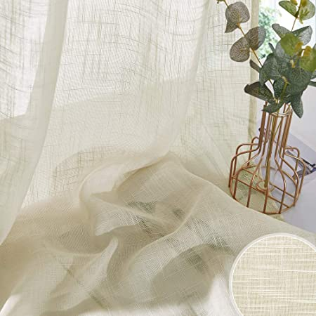 Designer Curtain Fabric 300 cm wide Embroidered voile Sheer Material Privacy net