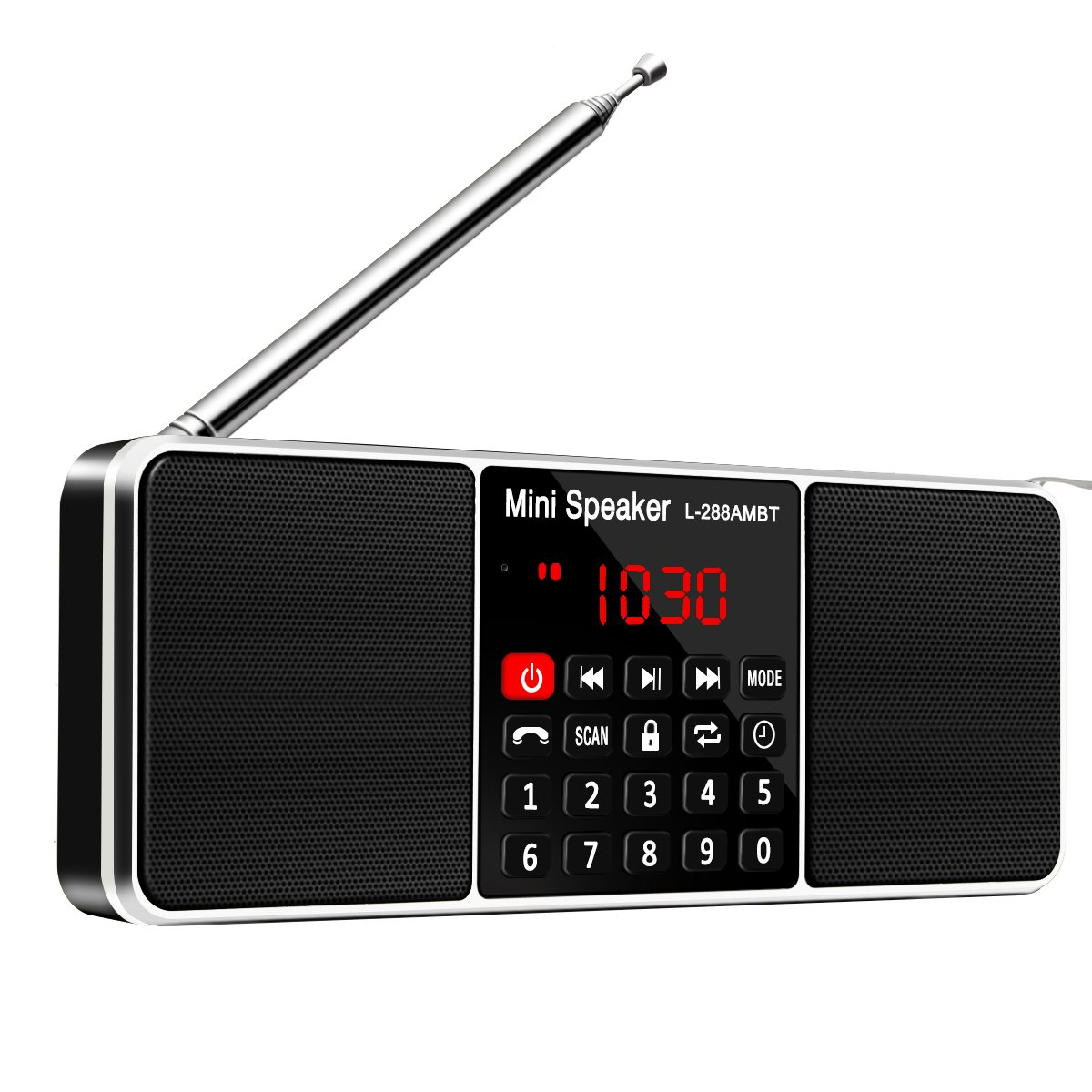 Bluetooth Radio Speaker,ELEGIANT Portable Multifunction Dual Channel Digital AM/FM Radio Media Wireless Speaker MP3 Music Player Support TF Card/USB Disk with LED Screen Display, Clock Function